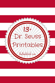 Free Printable - Cat in the Hat