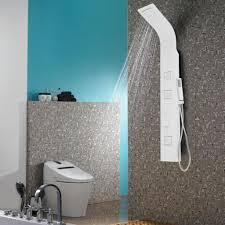 Aluminium Duschpaneel Duschsäule Regendusche Wasserfall Handbrause Massage Weiss Sanlingo