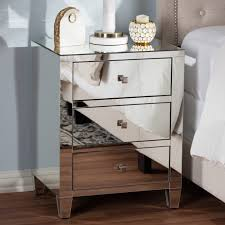 hollywood regency style furniture. Rosalind Hollywood Regency Glamour Style Mirrored 3-Drawer Nightstand Furniture E