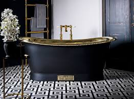 this is the brass bateau with painted charcoal exterior from catchpole rye