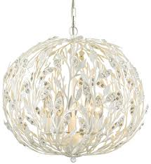 elk lighting 18185 5 trella pearl white 5 light chandelier undefined