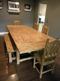 table chairs bench dining chairs for rustic farm tabl amazing