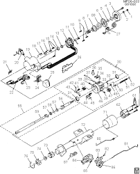 exploded view for the 1990 chevrolet camaro tilt steering column 1986 camaro iroc z wiring diagram at 1990 Camaro Wiring Diagram
