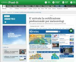 3BMETEO PRIMA AZIENDA ITALIANA CON METEOROLOGI CERTIFICATI « 3B Meteo