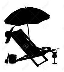 Silhouette Of Beach Chairs And Umbrellas Vector Illustration.. Royalty Free  Cliparts, Vectors, And Stock Illustration. Image 30822694.