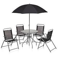 round patio. Wilko Round Patio Set Black 6 Piece