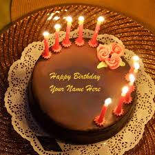 beautiful happy birthday chocolate cake with candles. Interesting Candles Whatsapp DP Name Birthday Wishes Lighting Candles Awesome Chocolate Cakes  Profile Images Online Happy Bi In Beautiful Cake With H