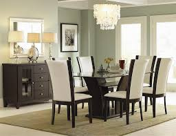 Minimalist Dining Room Design With Dining Table Glass Interesting - Glass dining room furniture sets