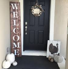 oversized rustic wooden welcome sign