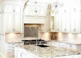 country antique white kitchen cabinets kitchenantique with subway tile backsplash