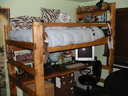 image of college loft bed full furniture