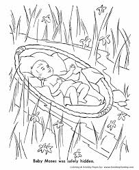 Bible Story Characters Coloring Page Sheets Baby Moses Coloring