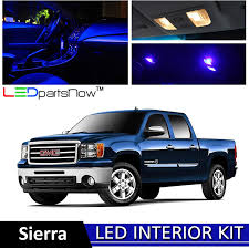 2014 Gmc Sierra Interior Lights Ledpartsnow 2007 2014 Gmc Sierra Led Interior Lights Accessories Replacement Package Kit 12 Pieces Blue