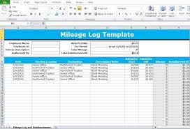 Irs Mileage Log Excel Mileage Log Excel Template Excel Tmp