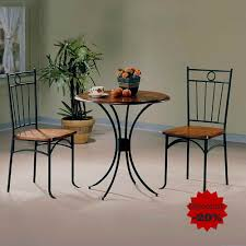 Amazoncom Metal Dining Table Set Dining Table With 2 Chairs Round