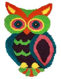 Mcg Textiles 37723 Owl Shaped Latch Hook Rug Kit 18 5 By 27 Inch