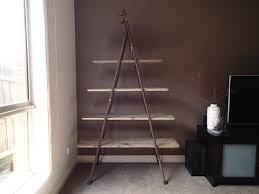 antique vintage industrial style wood metal display ladder shelf bookshelf room divider now sold