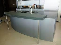 residential kitchen island 3 form chroma over chroma with 3 gauge bar top