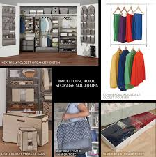 back to school storage solutions infographic