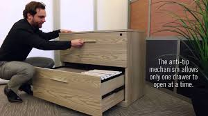 Horizontal Filing Cabinet Modern Lateral Filing Cabinet Officefurniturecom Youtube
