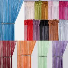string curtain panels door fly screen room divider voile net curtains