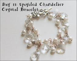 upcycled chandelier crystal earrings tutorial