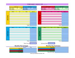 Weekly Time Sheets Multiple Employees Multiple Job Timesheet Printable Time Sheet