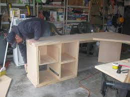 I took the old bed and built a desk: