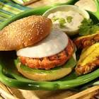 asian salmon burgers with provolone  green onion and soy sauce m