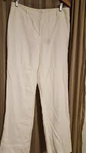 Ebay Pants Size Chart Beautiful Womens Lined Linen Pants Casual Corner White Size