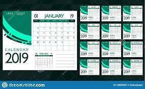 Best 2019 Calendar Design Monthly 2019 Calendar Best Choice For Business Planning
