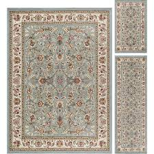 3 piece set blue gold and ivory area rug laa rc willey furniture