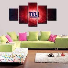 5 panel new york giants wall art picture modern home decoration living room or bedroom canvas on ny giants canvas wall art with 5 panel new york giants wall art picture modern home decoration