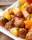 souper  easy sweet   sour meatballs