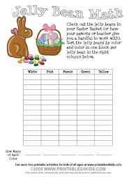 Easter Jelly Bean Math Worksheet : Printables for Kids – free word ...