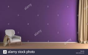 Purple Wall Design For All Blank Violet Wall In Living Room Interior Mock Up With