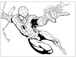 Di Spider Man Da Colorare E Stampare Con Disegni Spiderman Da Avec