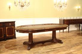 traditional leather top table for up to 10 people