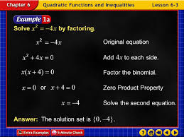 solving quadratic equations by factoring 3 solve