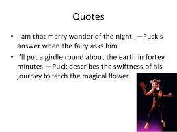 Midsummer Nights Dream Quotes Best of Puck From A Midsummer Night's Dream
