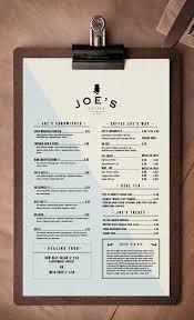 Coffee Menu Interesting Joe's Coffee By Trevor Finnegan Via Behance Pinned By Lamond
