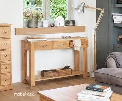 mobel solid oak modern console table 3