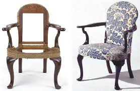 A QUEEN ANNE MAHOGANY UPHOLSTERED OPEN ARMCHAIR  AMERICAN 19TH CENTURY  Christieu0027s Queen Anne Armchair L17