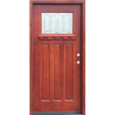Pacific Entries 36 in. x 80 in. Craftsman 1 Lite Stained Mahogany ...