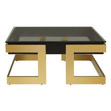 bibha black glass coffee table with