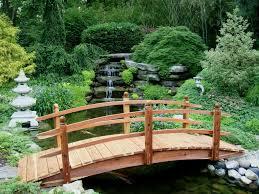 small garden bridge