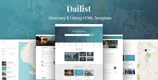 Template For Directory Dailist Directory Listing Html Template Uxfree Com