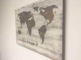 46 ideas of wall art maps inspiration of wooden united states wall art