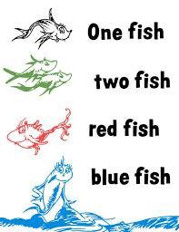 one fish two fish red fish bl one fish two fish clip art