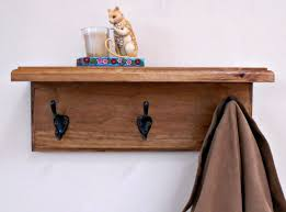 Black Coat Rack With Shelf Furniture Wooden Wall Coat Hanger And Shelf Using Black Iron Hook 19